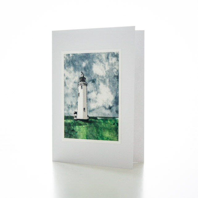 Hurst lighthouse handmade card