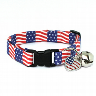 American Stars and Stripes Cat Collar