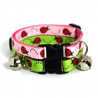 Ladybird Safety Cat Collar : Pink or Green