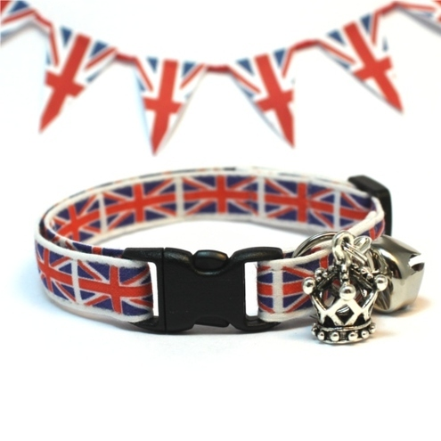 Union Jack Cat Safety Collar for Royal Wedding