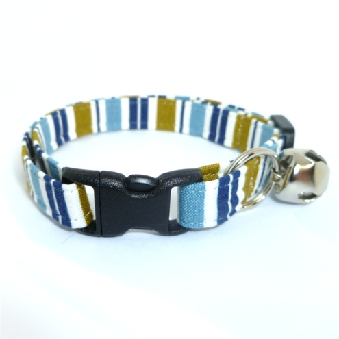 Blue Tie Cat Collar
