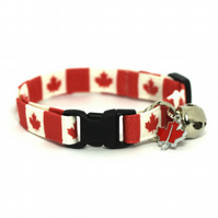 Maple Leaves Canadian Cat Collar