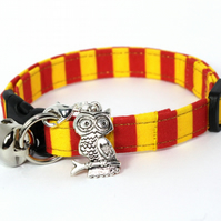 Wizard Safety Cat Collar with Owl Charm