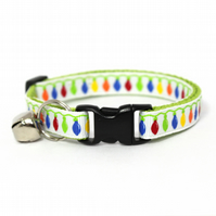 Twinkle Lights Christmas Cat Collar