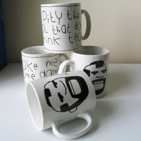 MR Tea hand doodled mug by teeandtoast