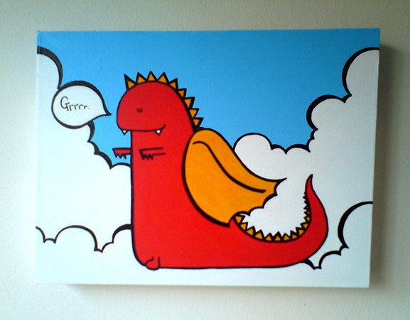 Dragon - Acrylic Painting On Canvas - Original - MADE TO ORDER