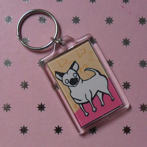 Chihuahua keyring! an illustrated keychain