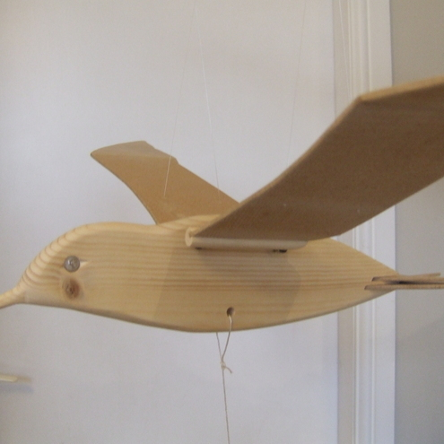 Wooden Bird Mobile Flapping Tern Folksy