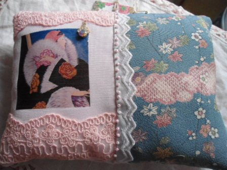 20's lady rose pillow