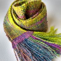 Handwoven Skinny Scarf - Made in Shetland