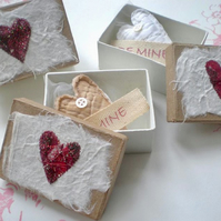 Decorated box with lavender filled heart