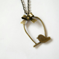 Perching Bird Necklace