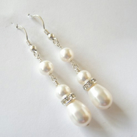 Swarovski Pearl Teardrop Earrings