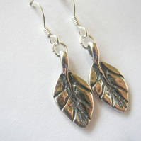 Artisan Leaf Earrings