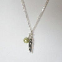 CUSTOM LISTING - 3 Peas in a Pod Necklace
