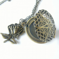 Filigree Locket and Rose