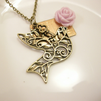 Filigree Bird Necklace