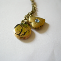 'Lovebirds' and Heart Duo Locket