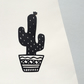 Cactus Papercut, Cacti art, Botanical Paper Cut, Unique Home Gift