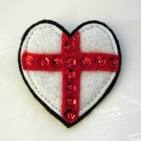 England Heart Brooch