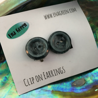 Clip on Button Earrings