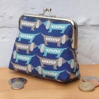 Kissing Sausage Dogs Purse (in blue)