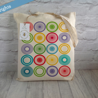 Retro Style Printed Cotton Tote Bag