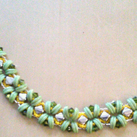 Green curves and kisses bracelet