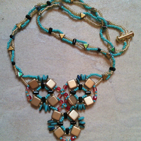 Wild West bib style necklace