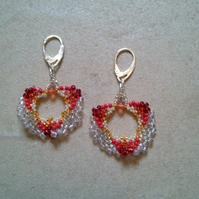 Fiery glow earrings