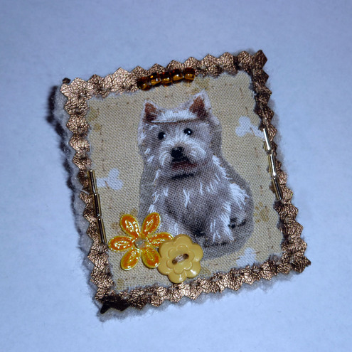 Brooch ~ with Westie