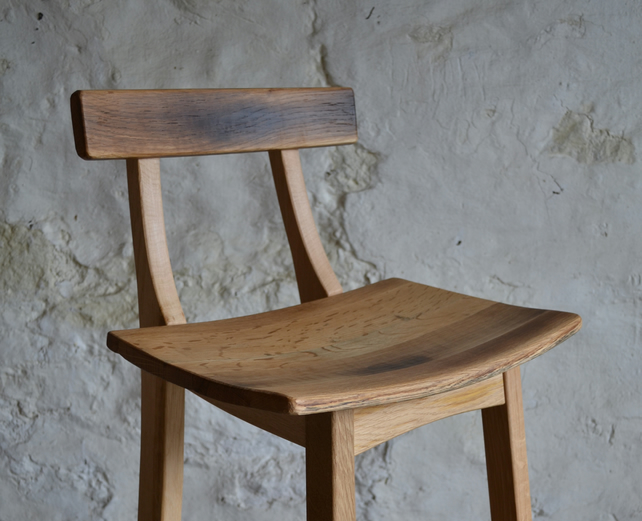 Oak Bar Stools ~ Scottish oak bar stool folksy