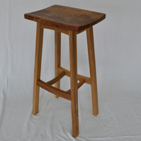 Kitchen or Bar Stool in Scottish Elm