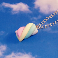Flump Marshmallow Necklace - Sweet Pastel Marshmallow Jewellery - Pastel Baby Co