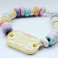 Candy Watch Bracelet - Sweetie Watch - Pastel Coloured Fairy Kei Bracelet