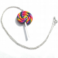 Lolly Pop Necklace - Lolly Pop Earrings - Colourful Candy Necklace - Sweeties