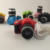Oversized Camera Canon Charm Necklace - Camera Charm - Photography Gift