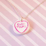 Love Heart Charm Necklace - Candy Jewelry - Sweetie Jewellery - Fairy Kei