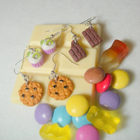 Tiny dessert earrings - cookies, chocolate, cupcakes