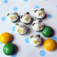 Green citrus cupcake charms