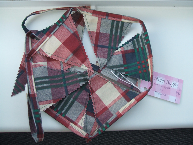 Mini Tartan Bunting 11 Flags