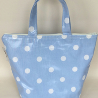 Insulated lunch bags,Cool bag,School bag,Tote bag,Lunch bag,spotty oilcloth