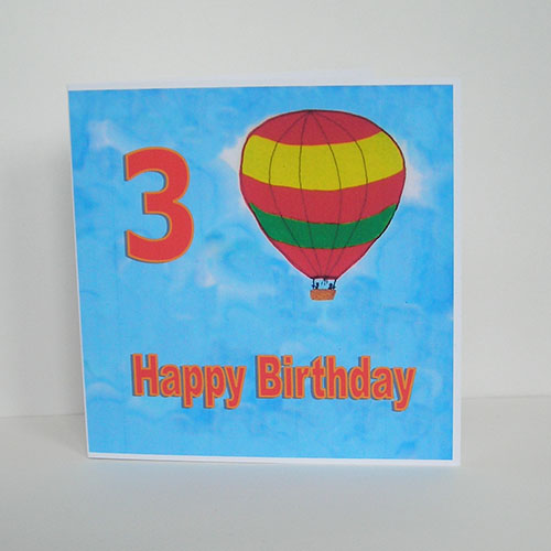 Personalised Hot Air Balloon Birthday Card