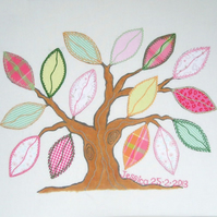 Memory Tree Applique and Embroidered Picture Kit