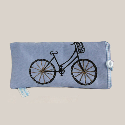 Blue Bicycle Glasses Case