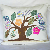 Applique Tree Cushion Cover