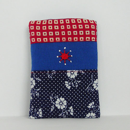Patterned Mobile Phone Case with Embroidered Detail