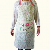 Busy as a Bee Apron in Floral Fabric