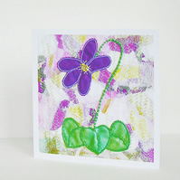Violet Patch Recycled Eco Friendly Greetings Card