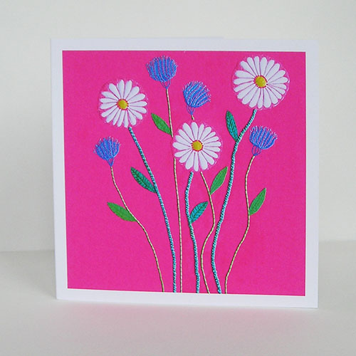 Ox-Eye Daisy and Cornflower Greetings Card